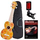 Classic Cantabile BeachBuddy Beachflower ukulele SET y compris l\'accordeur