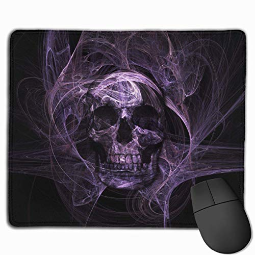 keiwiornb Funny Hippy Sugar Skulls Personalized Design Mouse Pad Gaming Mouse Pad with Stitched Edges Mousepads, Non-Slip Rubber Base, 9.8x12 Inch/25 X 30cm, 3mm Thick - Best Gift Idea