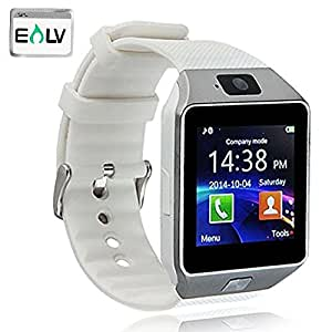 Smart Watch, E LV High Quality Touch Screen Bluetooth Smart Wrist Watch with Camera & SIM Card Slot For Apple iPhone IOS, Android Smartphones Samsung,HTC,Blackberry and more- WHITE