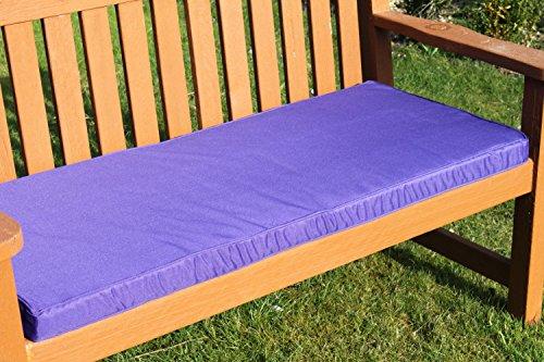 Garden Market Place Gartenmöbel-Auflage - Auflage für 2-Sitzer-Gartenbank in Violett
