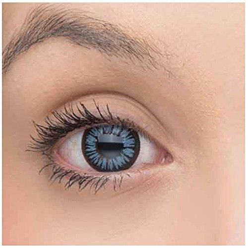 Eye Effect farbige Kontaktlinsen in vielen Farben für schöne natürlich Augen + gratis Kontaktlinsenbehälter (Grau)