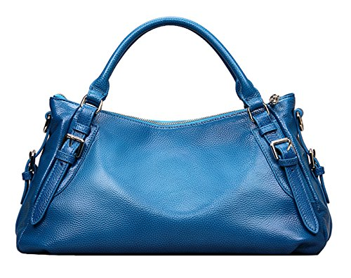 SAIERLONG Femmes Style Européen Et Américain Bleu Première Couche De Cuir Sacs portés main Épaule Messenger Bag Cross Body Sac à main vintage Bleu