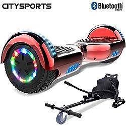 CITYSPORTS Hoverboard 6.5 Pouces, Self Balance Scotter Electrique, Roues LED Light, Bluetooth, Moteur 700W