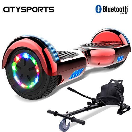 CITYSPORTS Hoverboard 6.5 Pouces, Self Balance Scotter Electrique, Roues LED Light, Bluetooth,...