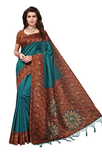 Chirag Enterprise Women's Art Mysore Silk Saree With Blouse Piece.(Free Size)