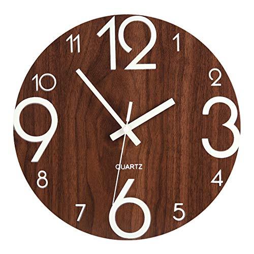 QF-wofo Große Wanduhren Küche, Vintage-Stil Runde Wanduhr Wand-Dekor-Uhren für Küche Büro Retro hängende Uhr, Wohnaccessoires (Uhr Vintage Wand)