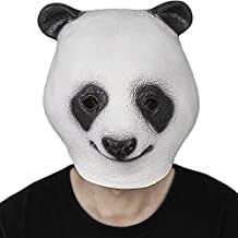 Decoración de lujo del traje del partido de Víspera de Todos los Santos de la máscara de la panda del caucho de látex de la novedad