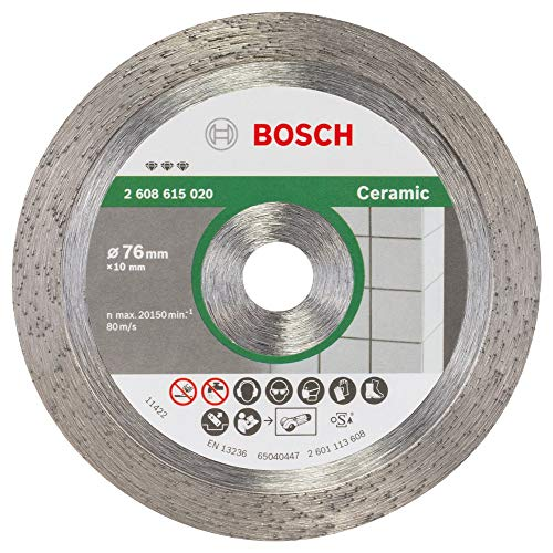 Bosch Professional 2608615020 Diamanttrennscheibe 2 608 615 020 Best for Ceramic 76x1,9x10 mm 1 W, 240 V, grau