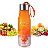 Die besten Obst Infuser Wasserflaschen - FRUQUA Obst Infuser Wasserflasche in 7 Leuchtende Farben Bewertungen