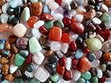 1kg bunte Trommelstein Mischung aus echten Edelsteinen ca. 130 bis 150 Steine - AMAHOFF