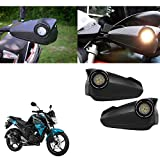 #10: Vheelocityin Bike Hand Guard Motorycle Hand Protector with Bright Light Black For Yamaha Fzs-Fi