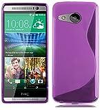 Cadorabo Hülle für HTC One M8 Mini (2.Gen.) Hülle in Handyhülle aus flexiblem TPU Silikon im S-Line Design Silikonhülle Schutzhülle Soft Back Cover Case Bumper Flieder Violett