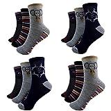 12 Paar Kids Jungen Socken Kinder Strümpfe 90% Baumwolle Bunt Gr. 27-39 Art.M6-2 (36-39)