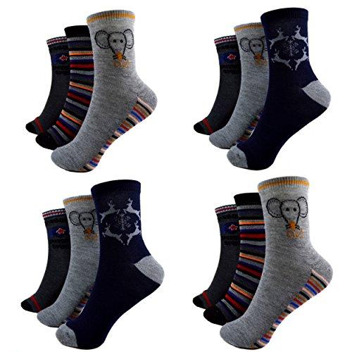 Socken Kinder Strümpfe 90% Baumwolle Bunt Gr. 27-39 Art.M6-2 (36-39) (Kinder Strümpfe)