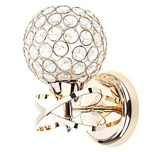 Modernes Design Stil Elegantes Interaktionsdesign Nachttisch E27 Vergoldung Technics LED Kristall Wandleuchten, GOLDEN