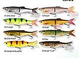 Savage Gear 3D Bleak Glide Swimmer Wobbler (13,5cm / 16,5cm / 20.5cm),Jerkbait, Jerk, Swimbait, Hechtköder, Angelköder, Kunstköder, Barschköder, Zanderköder, Köder für Hecht, Zander, Barsch, Farbe:Dirty Silver;Länge / Gewicht:13.5cm / 28g