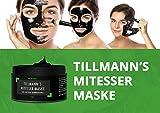 Bambuskohle Mitesser Maske von Tillmann Reinigungsmaske tiefenreinigende Peel Off schwarze Gesichtsmaske