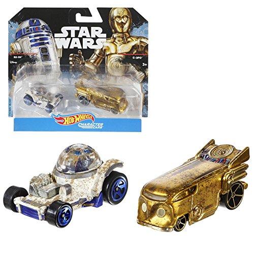 Mattel Auswahl Character Autos im 2-er Pack | Die-Cast | Star Wars Hot Wheels, Typ:R2 D2 & C-3PO (Hotwheel R2d2)