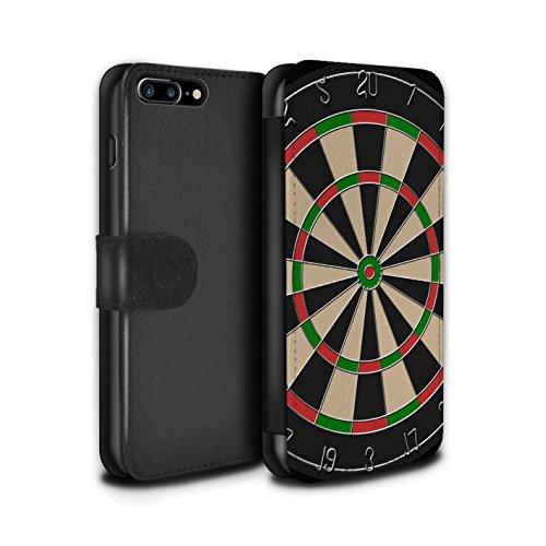 Stuff4 Coque/Etui/Housse Cuir PU Case/Cover pour Apple iPhone 7 Plus / Billard Vert Design / Jeux Collection Jeu de Fléchettes