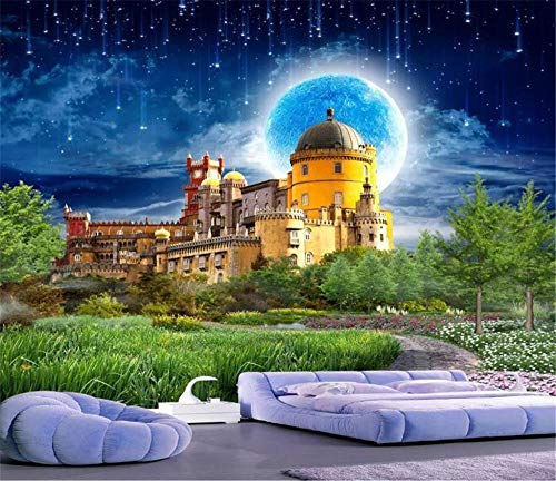 3d wallpaper traumschloss schöne märchenlandschaft wohnzimmer schlafzimmer hintergrund wanddekoration wandbild tapete @ 430 * 300 cm
