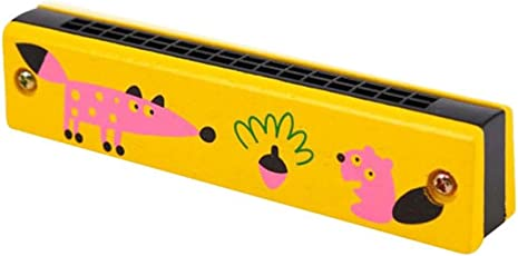 Mini-Holz-Kinder Mundharmonika, mamum educationaswan Mundharmonika 16Löcher Fahrradhupe Waldhorn Educational Spielzeug Geschenk für Kinder