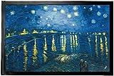 1art1 93987 Vincent Van Gogh - Sternennacht Über der Rhône, 1888 Fußmatte Türmatte 60 x 40 cm