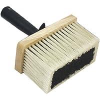 Allcolor Cepillo de empapelar 32 x 2 cm, cerdas chinas grises, madera lacada