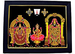 Tirupati Balaji Lakshmi Photo Frame