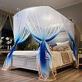 QQA Prinzessin Moskitonetz Lace Dome Betthimmel for Kinder Fliegen Insektenschutz Indoor/Outdoor Dekorative Höhe (Color : Blue)