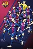 GB eye Ltd Barcelona, Spieler 17/18, Maxi Poster 61x 91,5cm, Holz, verschiedene, 65x 3,5x 3,5cm