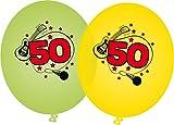 8 Luftballons * SUPER ... ICH BIN JETZT 50 * für den 50. Geburtstag von DH-Konzept // Music Deko Ballons Party Set