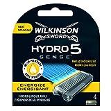 Wilkinson Sword Hydro 5 Sense Energize - 4 Recambios de Cuchillas de Afeitar, Menta Energizante