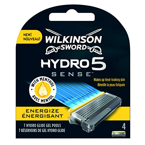 Wilkinson Sword Hydro 5 Sense ENERGIZE - Recambio de Cuchillas de Afeitar de 5 Hojas...