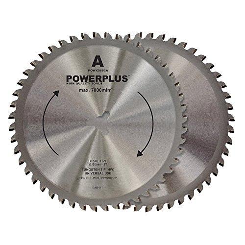 Powerplus Sägeblätter 2x Sägeblatt HSS - für Doppelkreissäge Handkreissäge