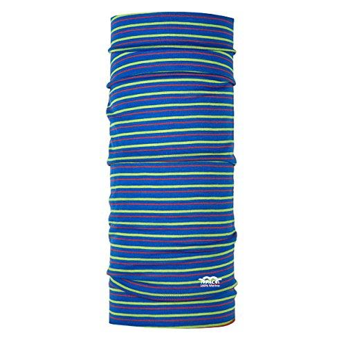 P.A.C. Kids Merino Wool Stripes Mix Multifunktionstuch - Merinowoll Schlauchtuch, Halstuch, Schal, Kopftuch, Unisex, 10 Anwendungsmöglichkeiten (Schal Wolle Stripe Merino)