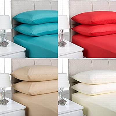 "Extra Deep Fitted Sheets 16""/40CM Deep Finest Quality Bedsheets 16 Colours. - cheap UK light shop."