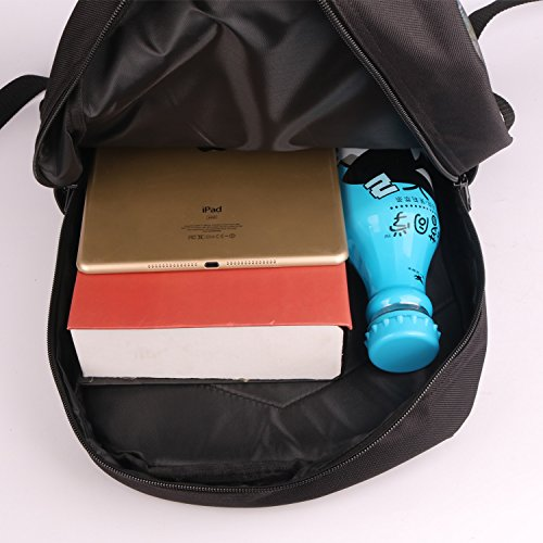 thikin 30,5cm/43,2cm Zoll Lässige Daypacks Cute Cat Print Filz Polyester schwarz mit doppeltem Reißverschluss Bookbags, lässige Tasche, Schule Rucksäcke