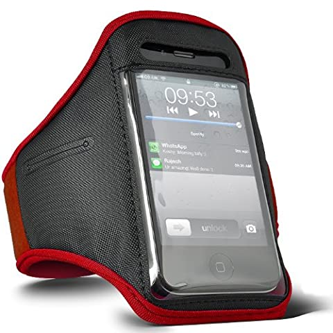 DIGI PIG RED SPORTS ARMBAND STRAP POUCH CASE FOR APPLE