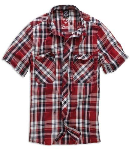 BRANDIT - Roadstar - chemise pour homme motif carreaux Rouge