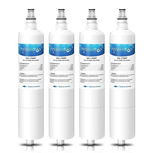 Waterdrop LT600P Kühlschrank Wasserfilter Ersatz für LG LT600P, 5231JA2005A, 5231JA2006A, 5231JA2006B, 5231JA2006F, PS2441842; Sears/Kenmore 46-9990, 9990P, 04609990000; WSL-2, WF300 (4)