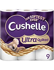 Cushelle Quilted 9 White Rolls