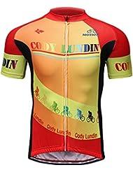 Cody Lundin Ropa deportiva al aire libre hombres caballo culturismo bicicleta Jersey chaqueta de bicicleta a prueba de viento (color-a, 4XL)