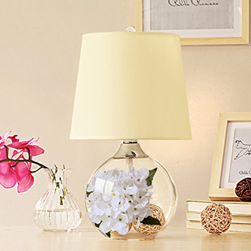 American Creative Glass Table Lamp European Style Bedroom Bedside