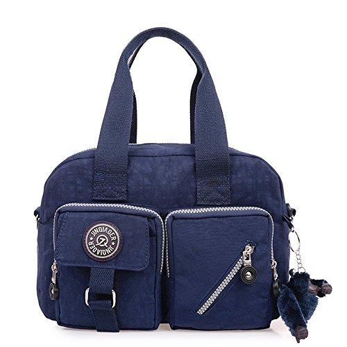 Nylon Handtaschen Damen Umhängetaschen  Wasserdicht Messenger Taschen Crossbody Casual Schultertaschen für Frauen - Blau (Sling-schulter-beutel Bag, Messenger)
