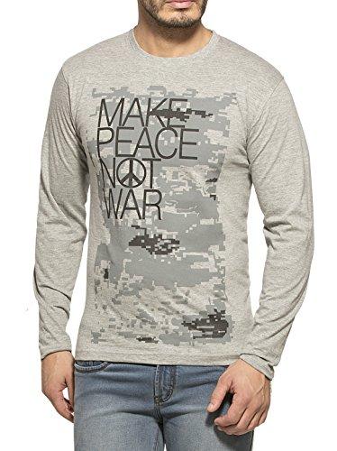 Alan Jones Clothing Men's T-Shirt (STC-Peace-L_Grey_Large)
