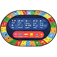 XXRUG Kids Rug Play mat ABC Alphabet Numbers & Shapes Educational Area Rug 2