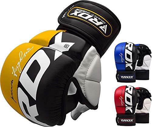 RDX MMA, Guanti per Arti Marziali, UFC, per Sport da Combattimento, da Sparring, da Lotta Libera, Sacco di Sabbia, da Allenamento, da Grappling