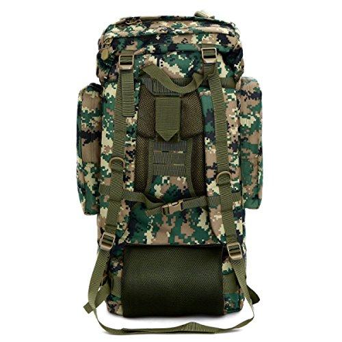 Outdoor Rucksack Tarnung Große Multifunktionale Bergsteigen Tasche Black