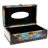 Sharplace 1x Vintage Kosmetiktücherbox Box Spender Taschentuchspender Taschentuch Holz - 4200-02 Globus