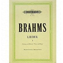 Chansons 1–arrangés pour Chant–VOIX MOYENNE (Mezzo/Medium Voice)–PIANO [Notes/sheetm usic] Compositeur: Brahms Johannes
